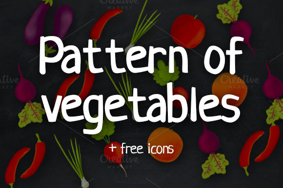 Pattern Of Vegetables And Free Icons