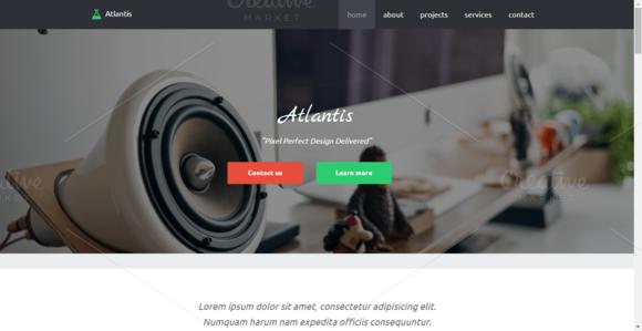 Atlantis Agency HTML5 Template
