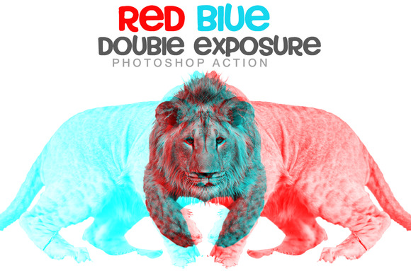 Red Blue Double Exposure