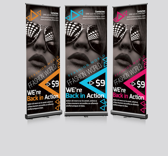 Photography Roll Up Banners Template