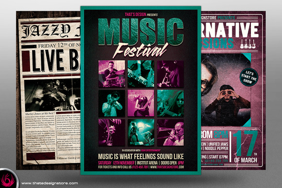 Concert Live Flyer Bundle V3
