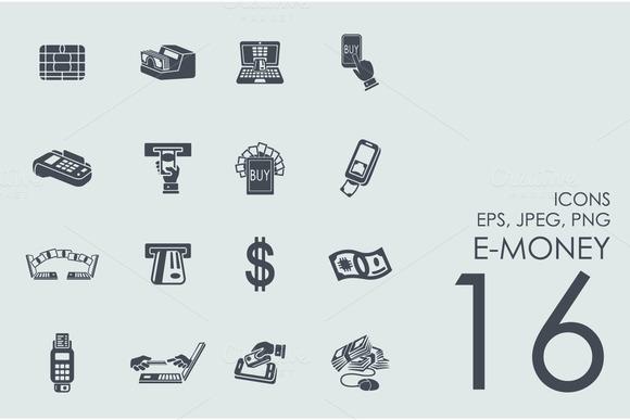 16 E-money Icons