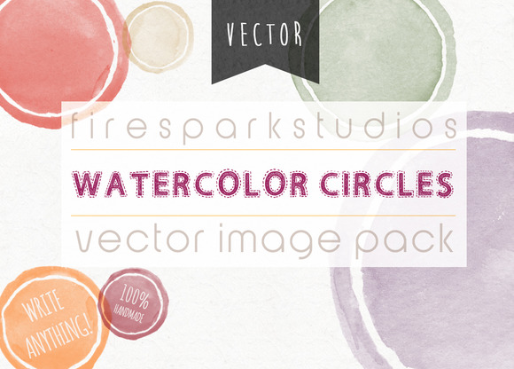 Blank Circles VECTOR Watercolor