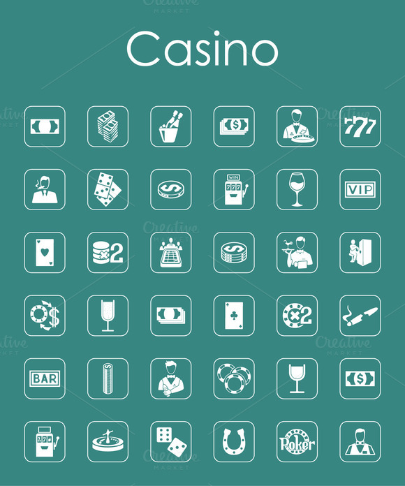 36 Casino Simple Icons