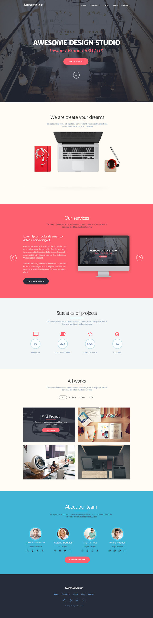 Awesome One PSD Template