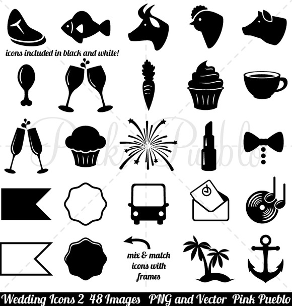 Wedding Icons 2 Clipart And Vectors