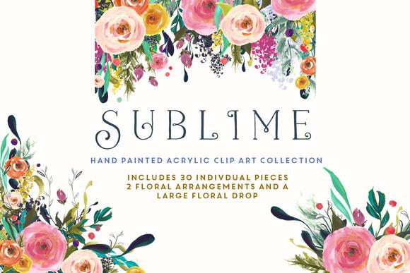 Flower Clip Art Sublime