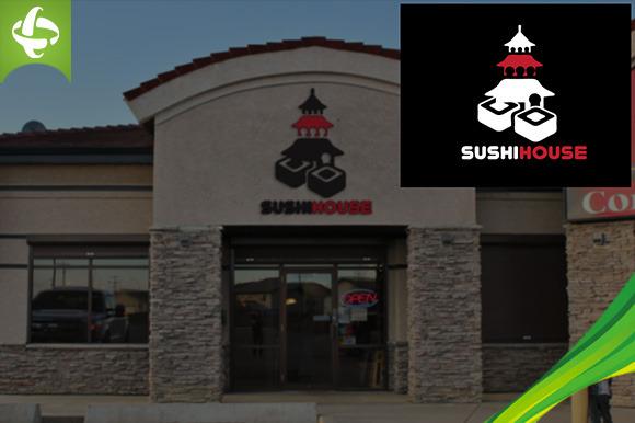 Food Restaurant Sushihouse Logo