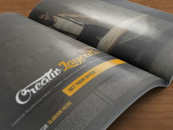 Creative Insomania Magazine Template