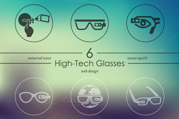Set Of High-tech Glasses Icons