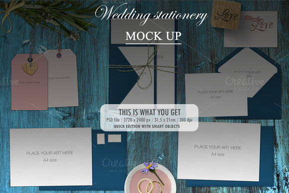 Mock Up Wedding Stationery
