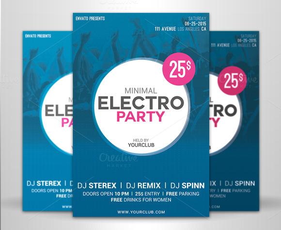 Minimal Electro Party Flyer