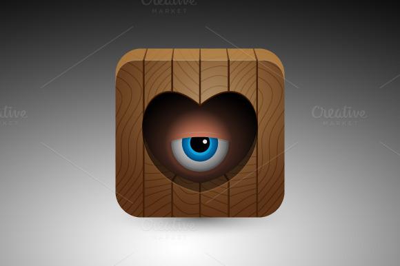 Cartoon Blue Eye Icon