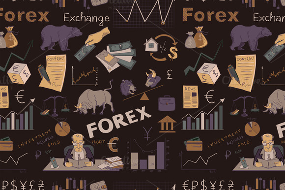 Colored Finance Forex Pattern