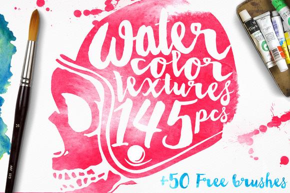145 Watercolor Textures BONUS