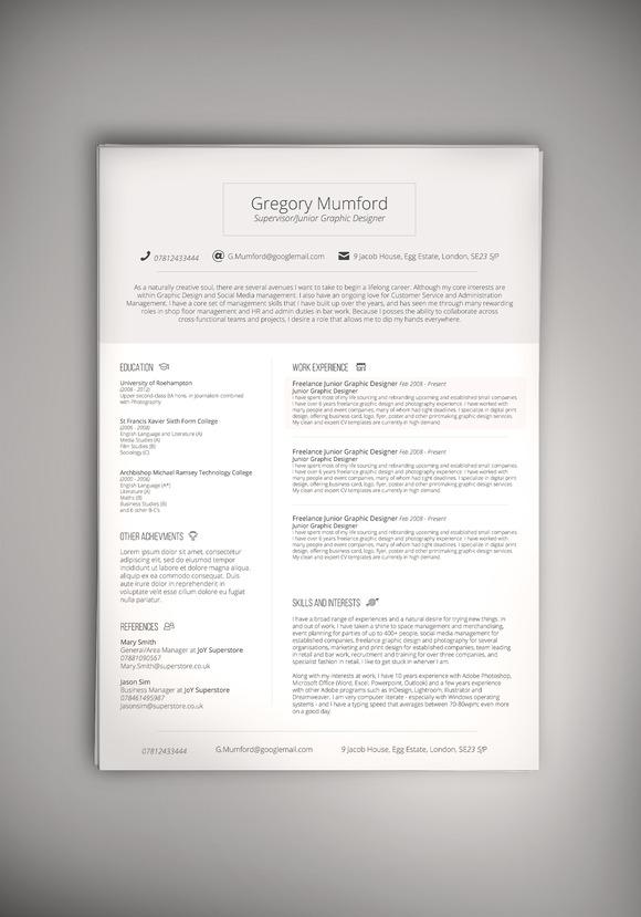 August CV Resume