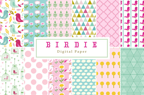Bird And Flower Backgrounds