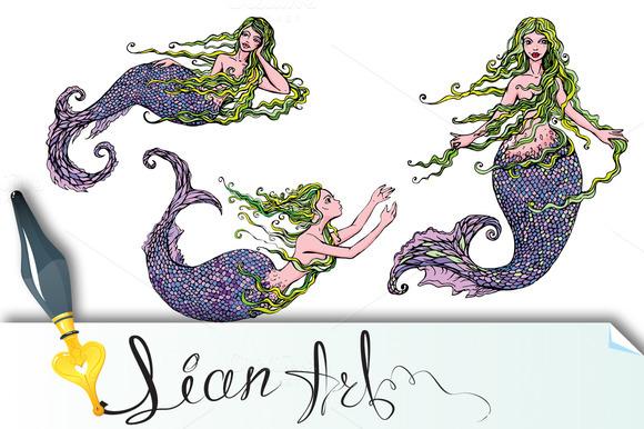 Beautiful Mermaid Girls