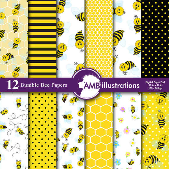 Bumblebee Digital Papers 916