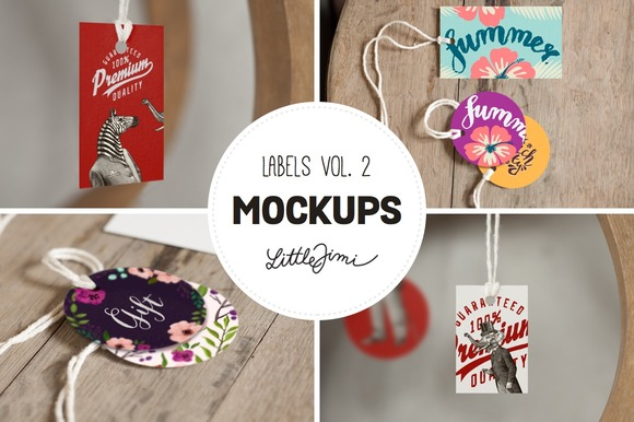 Label Mockups Vol 2