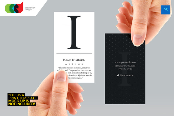 Executive Initial Business Card 65