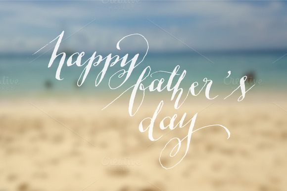 Father S Day Calligraphy Vector