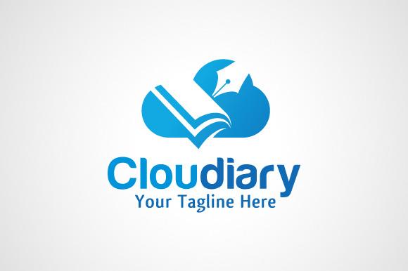 Cloud Diary Book Logo Design