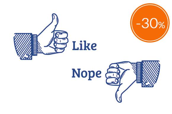 Stylish Network Signs Like Dislike