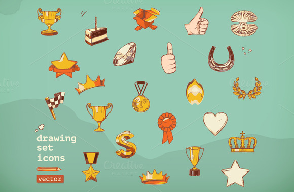 Awards And Achievement Vector Icons