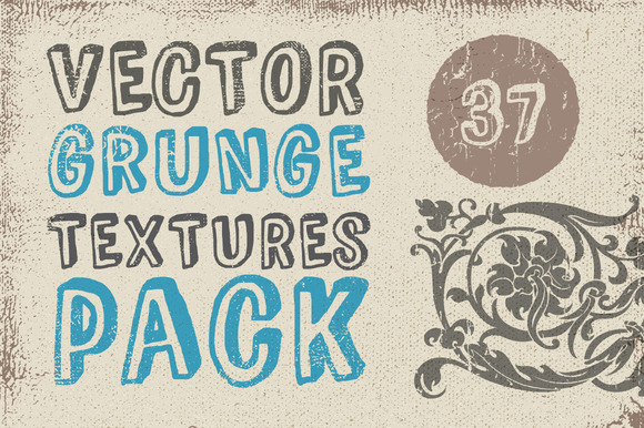 Vector Grunge Textures Pack 37