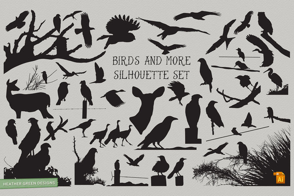 Birds And More Silhouette Set