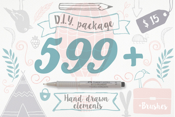 599 Hand Draw Elements