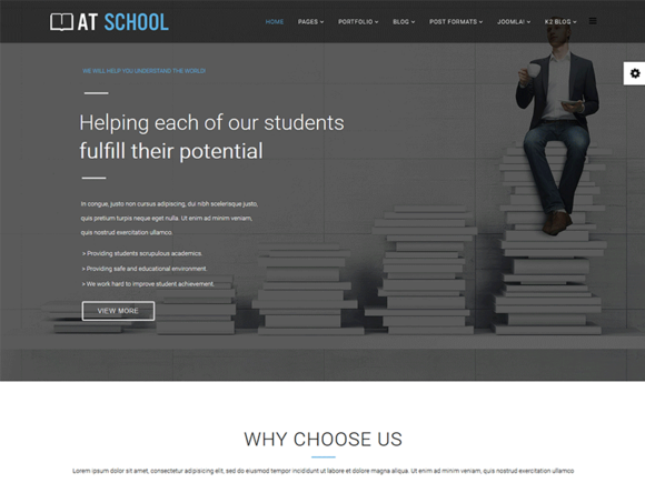 AT School Joomla Template