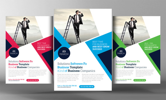 IT And Software Flyer Template