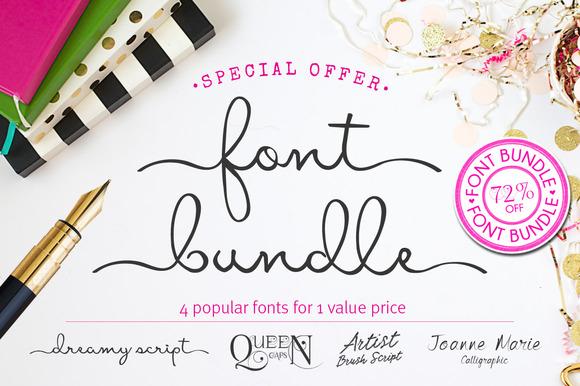 Font Bundle 72% OFF