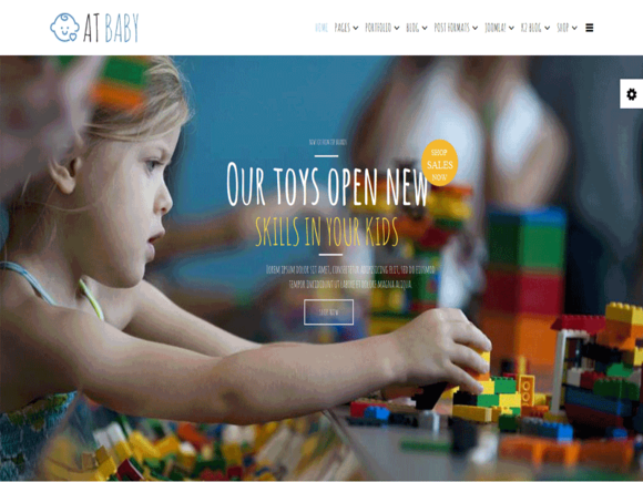 AT Baby Shop Joomla Template
