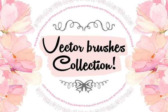 46 Vector Hand Drawn Brushes Set
