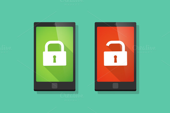 Security Related Phone Vector Set