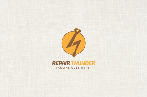 Repair Thunder Logo Template