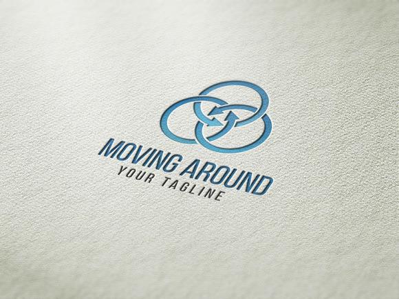 Moving Around Logo Template