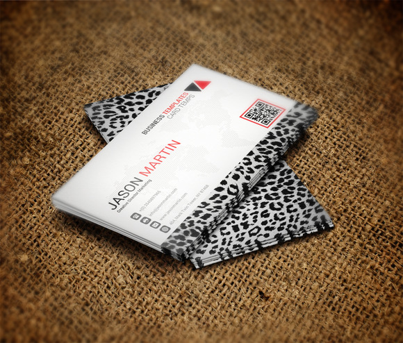 Zebra Business Card Template