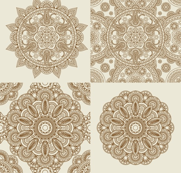 Round Lace Ornament Patterns