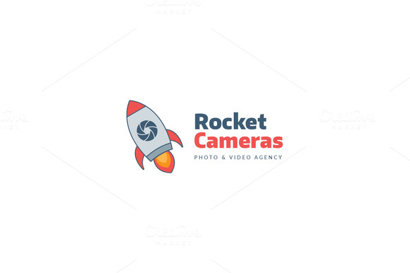 Rocket Thunder Logo Template