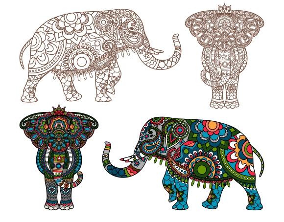 Vector Indian Elephant