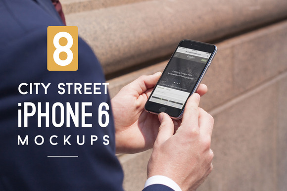 8 City Street IPhone 6 Mockups
