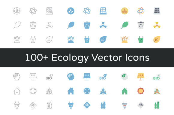100 Ecology Vector Icons