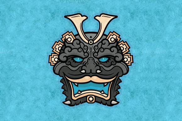 Demon Mask Vector Sticker