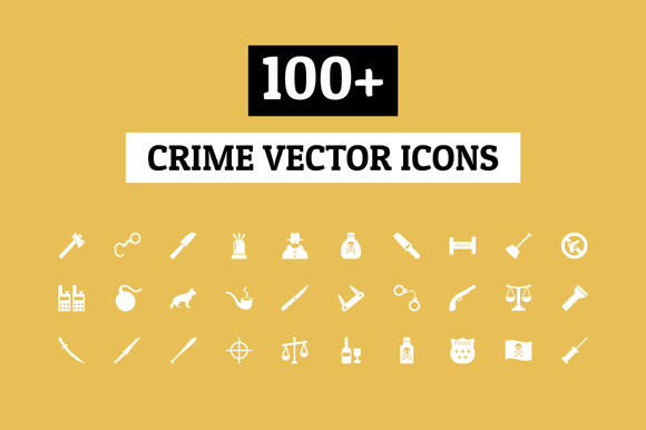 100 Crime Vector Icons