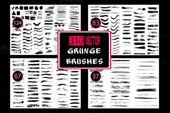 310 Grunge Brushes Set