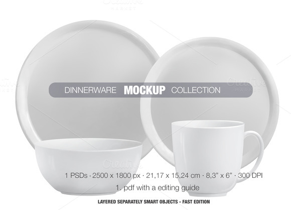Dinnerware Mockup Collection